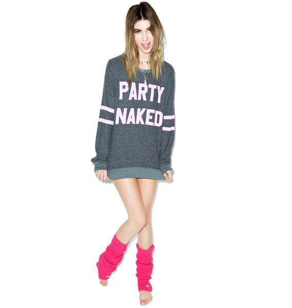 Wildfox Couture Party Naked Baggy Beach Jumper