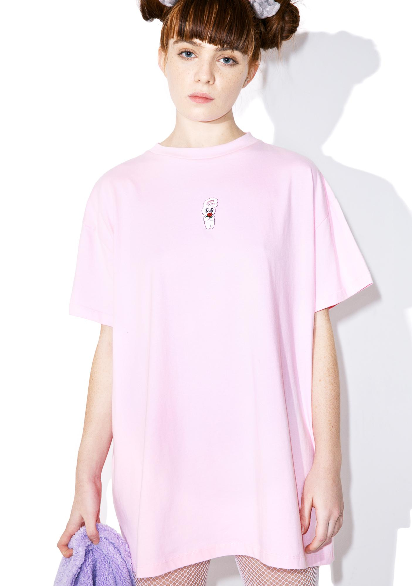 Lazy Oaf Esther Loves Oaf Bunny Rose T Shirt