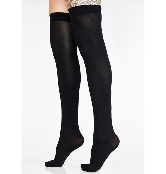 Zip Me Up Thigh High Socks