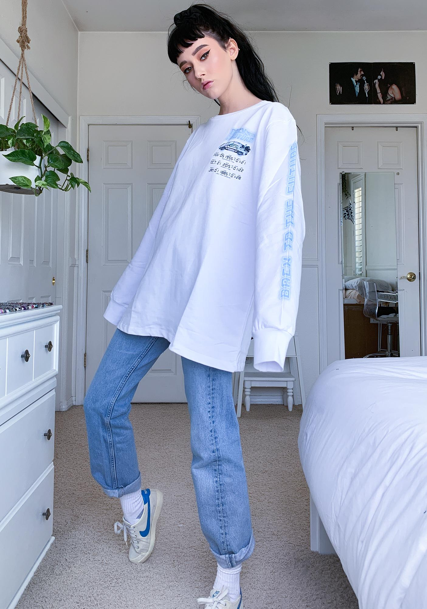 Criminal Damage X Back To The Future Time Code Long Sleeve Tee