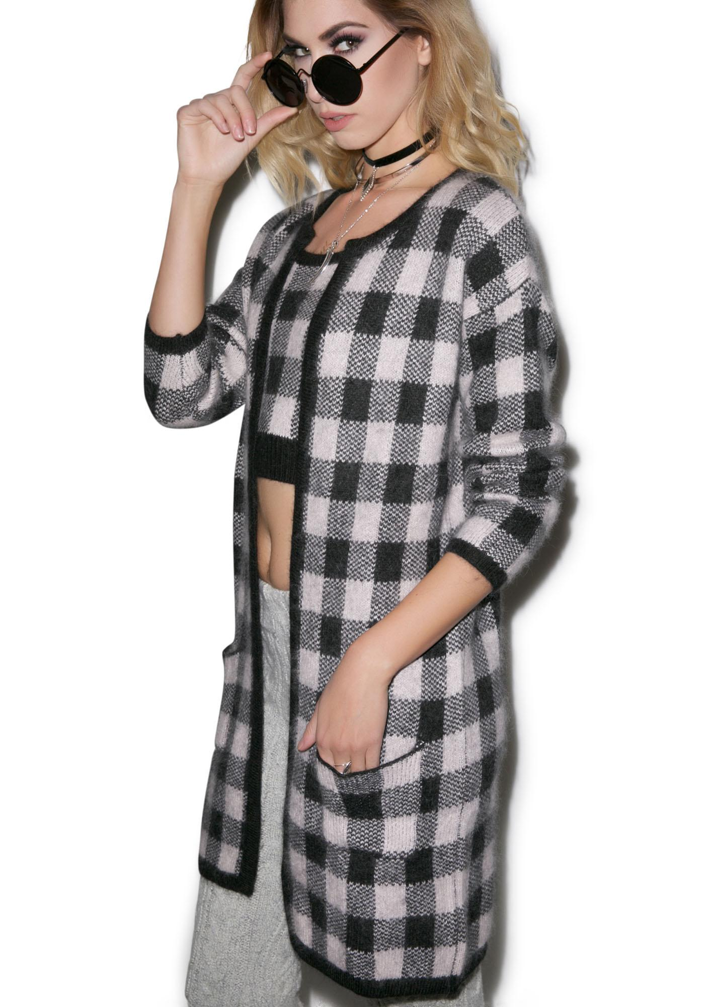 For Love & Lemons Lumberjack Cardigan