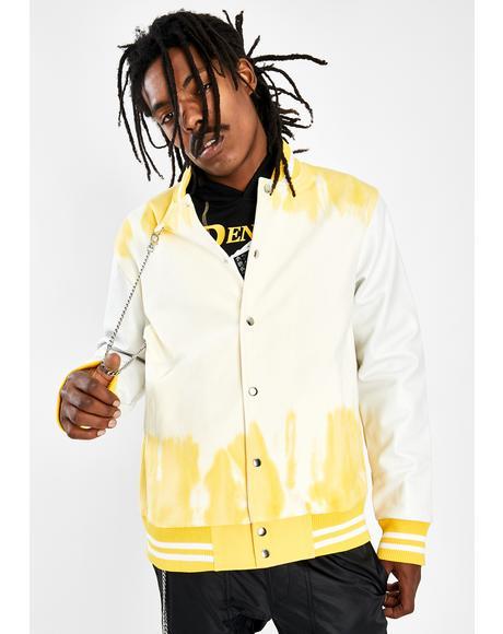 Tie Dye Varsity Jacket