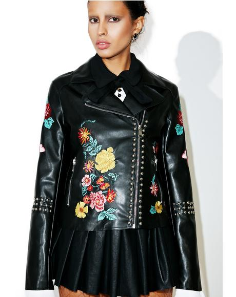 Halcyon Embroidered Moto Jacket