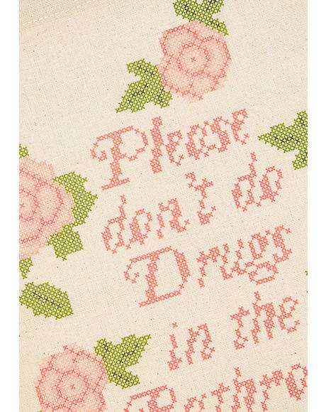 Please Don't Do Drugs Wall Hanging