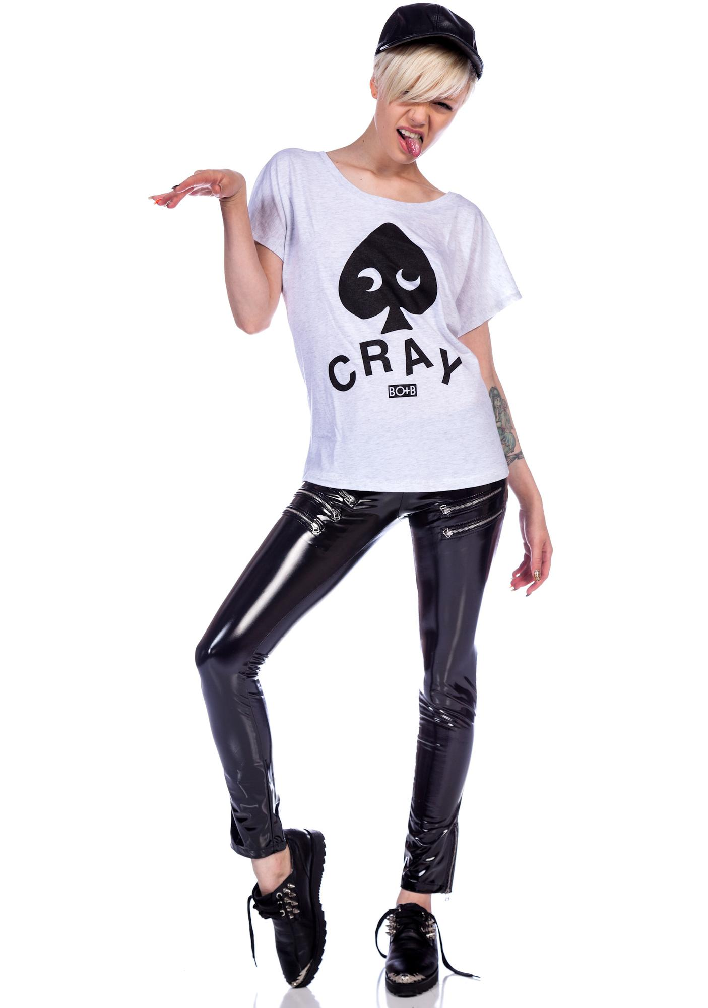 HLZBLZ x Belle of the Brawl So Cray Crop Tee