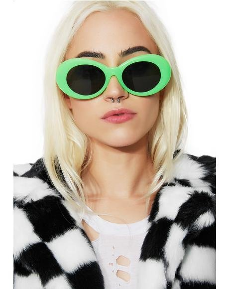 Neon Green Nevermind Sunglasses