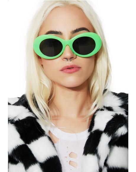 Neon Green Nevermind Sunglasses