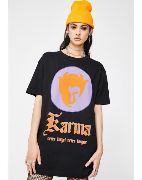 Karma Never Forget Never Forgive Tee