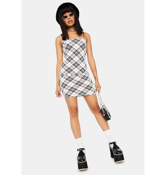 Rich Taste Plaid Mini Dress