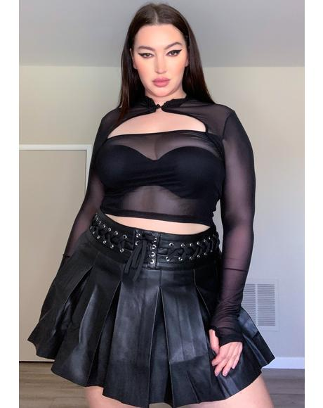Deadly Dark Inferno Mesh Top
