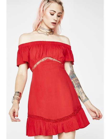 No Hesitation Off The Shoulder Dress