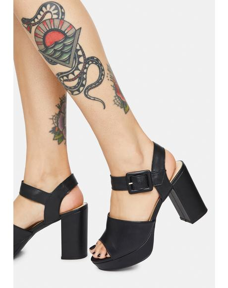 Midnight Rose Heels