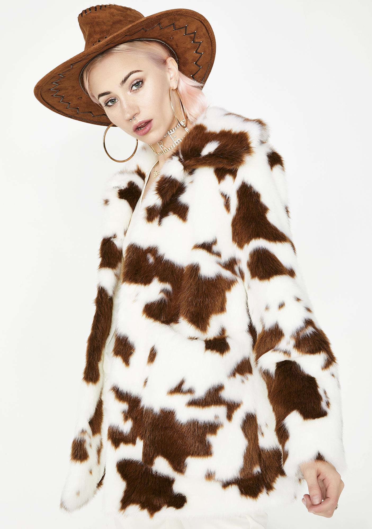 Jakke Cow Tammy Coat