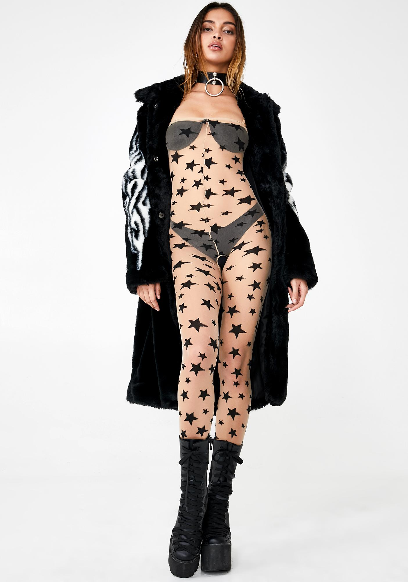 Star Crossed Lover Sheer Bodystocking