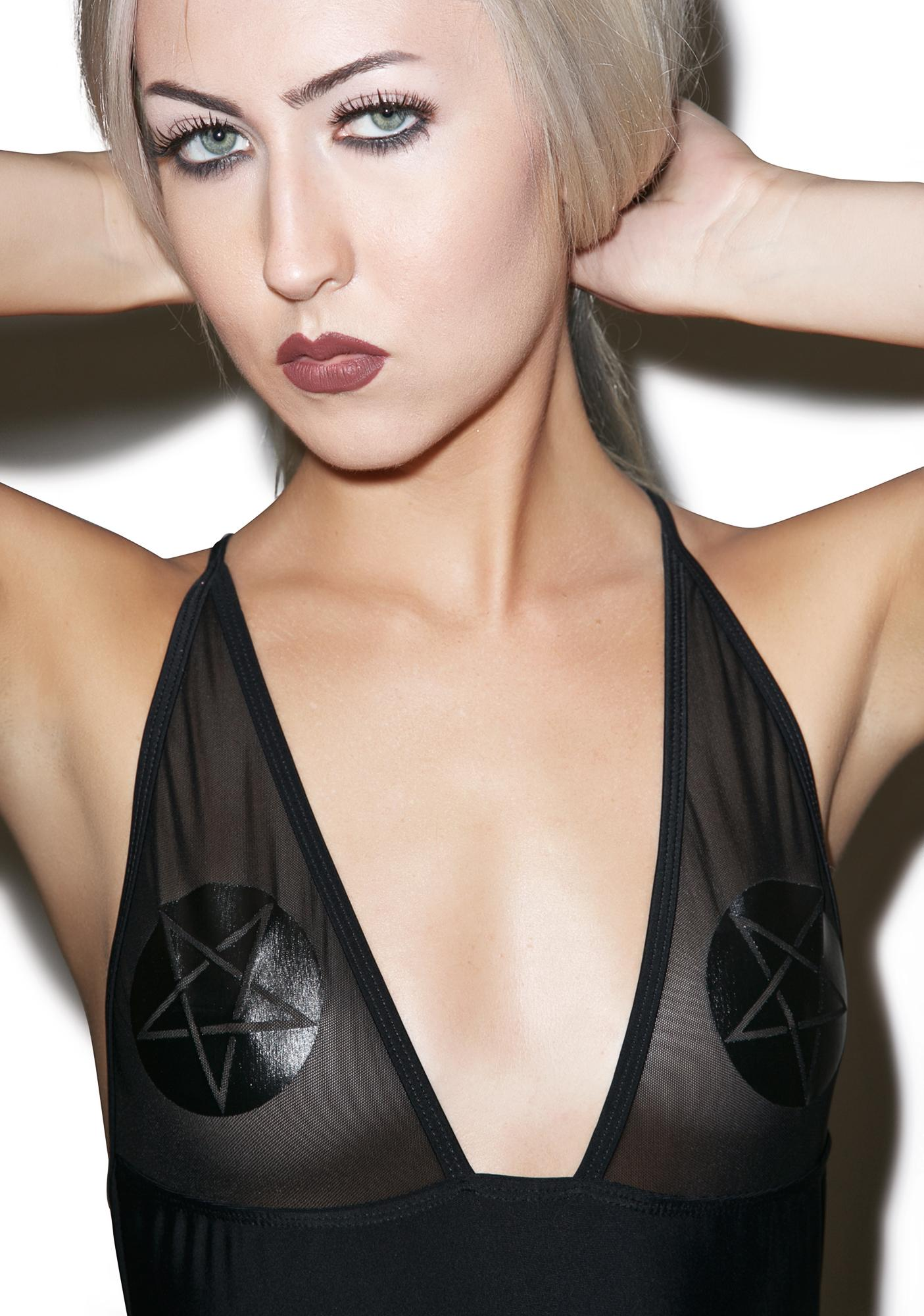 Disturbia x Dolls Kill Intentions One Piece Swimsuit
