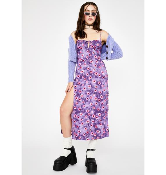 Motel Purple Daisy Cypress Midi Dress