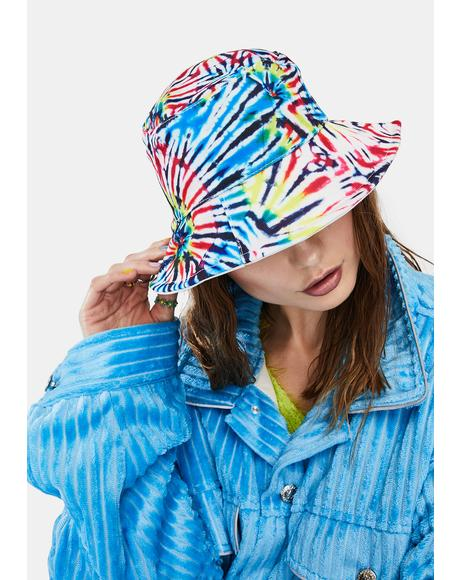 This Kiss Tie Dye Bucket Hat