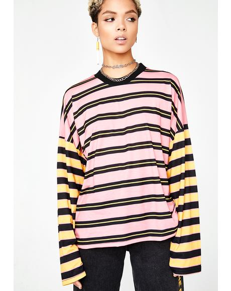 Stripe Skater Long Sleeve
