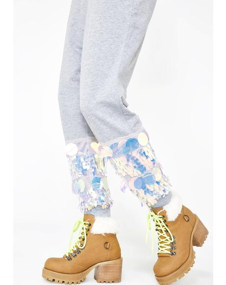 Walkin' On Sunshine Sequin Joggers