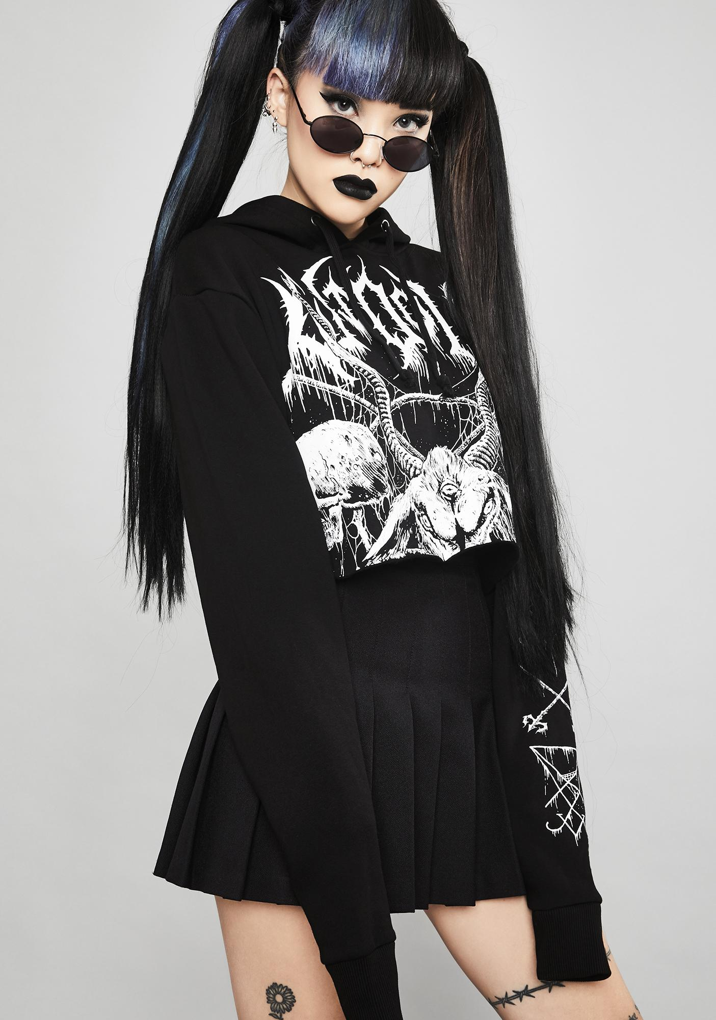 Widow Total Annihilation Cropped Hoodie