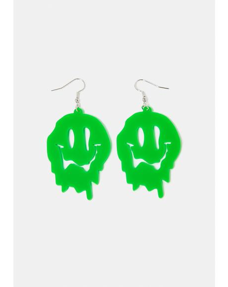 Make You Melt Smiley Face Earrings