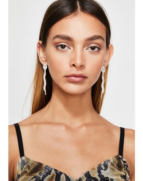 Slitherin' My DM's Snake Earrings