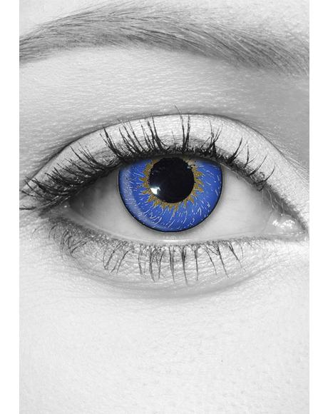 Deep Azure Contact Lenses