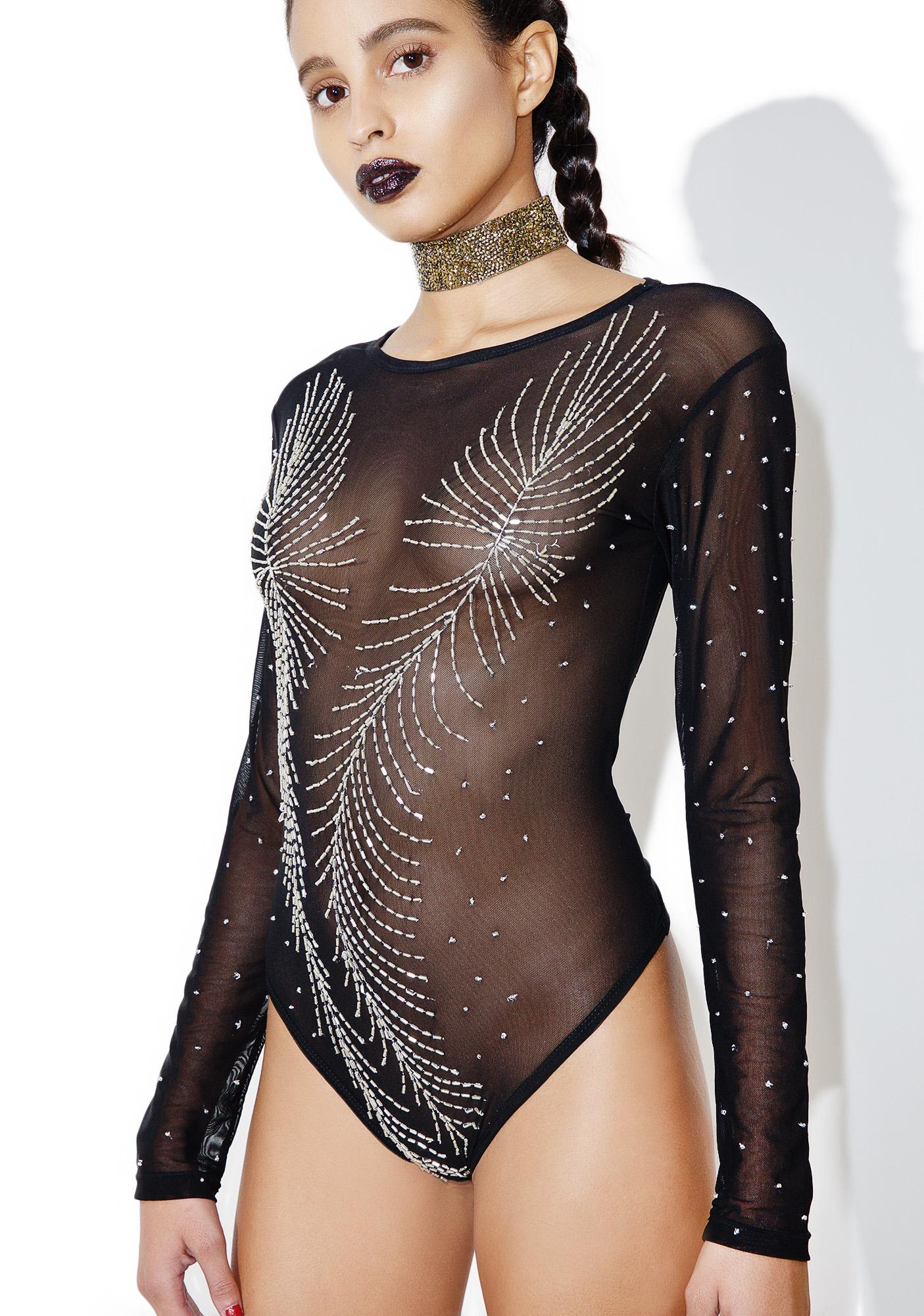 This Is A Love Song Sequin Mesh Bodysuit