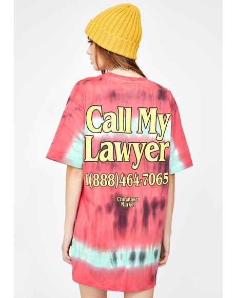 Tie Dye Call My Lawyer Graphic Tee