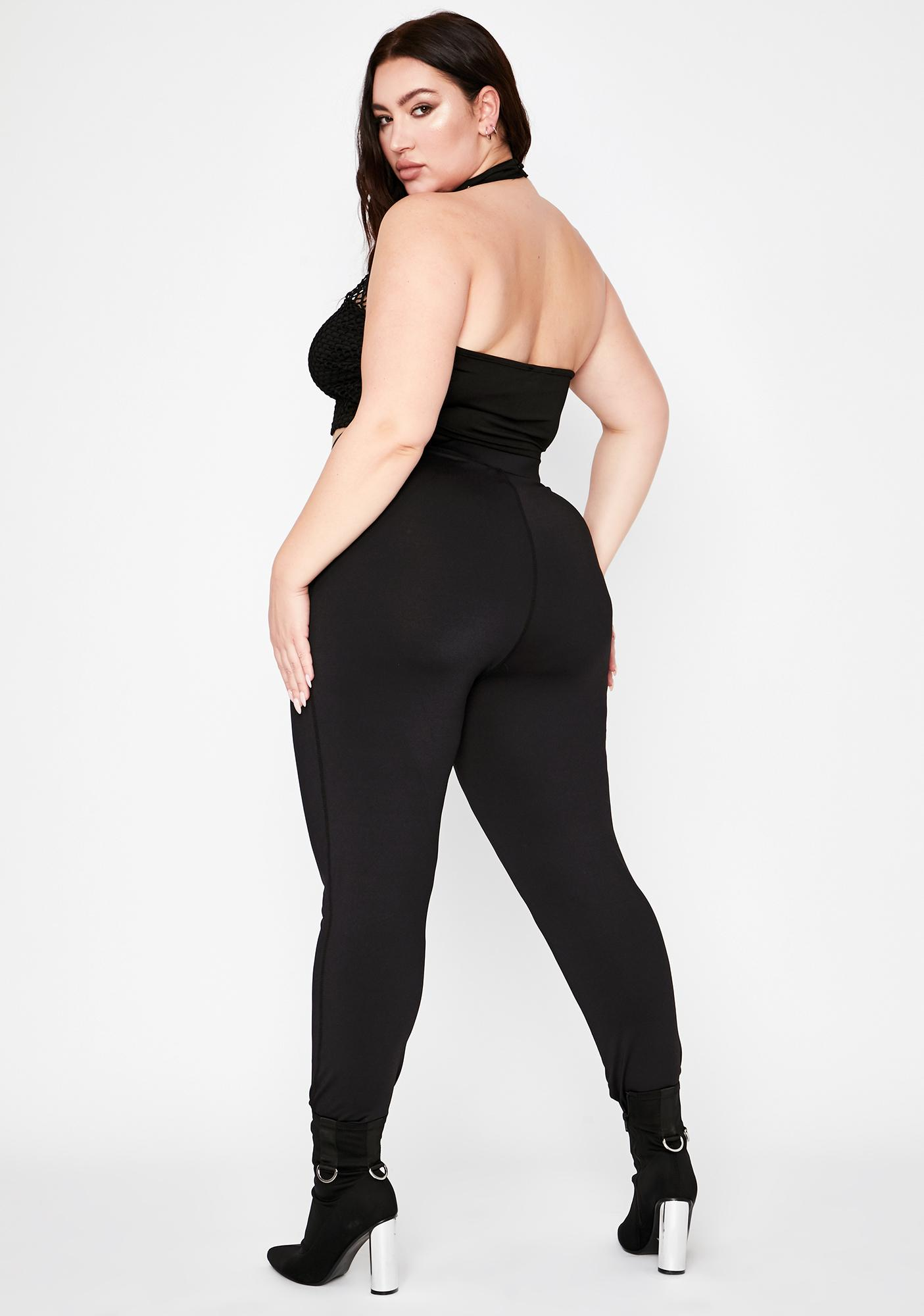 Night She's On My Side Lace Up Leggings