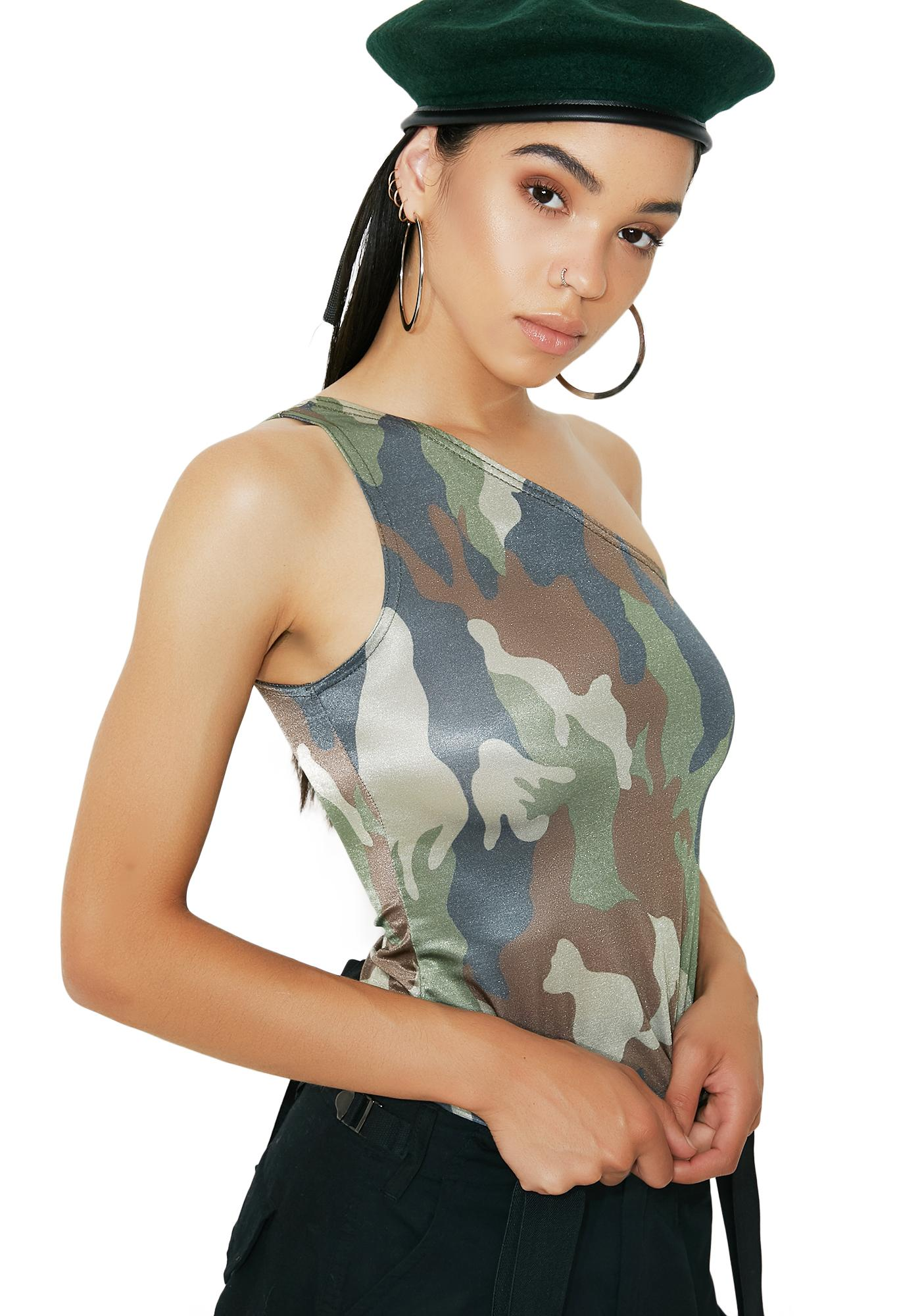 American Deadstock Asymmetrical Camo Top