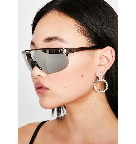 Plated Be Gone Shield Sunglasses