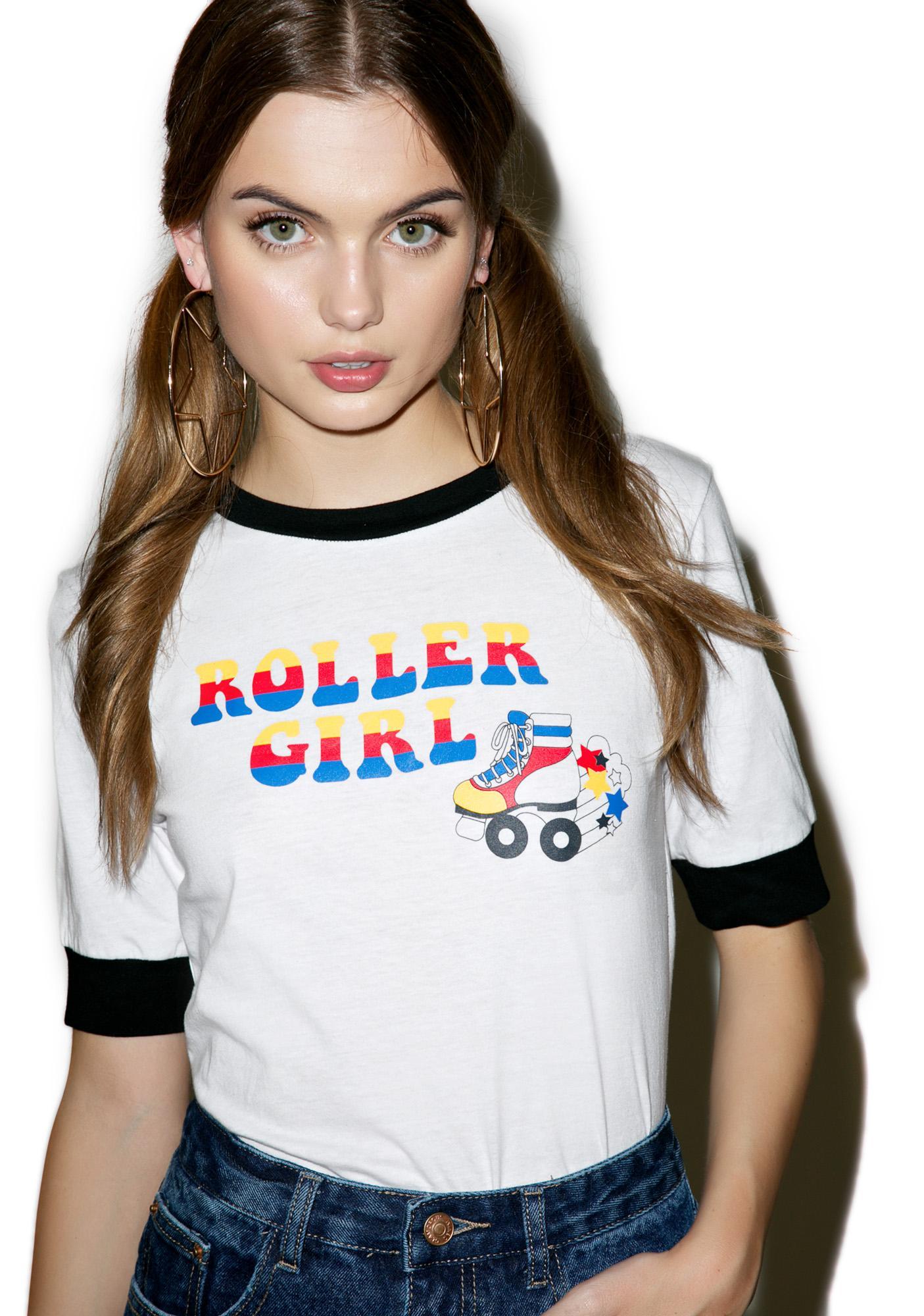 Glamorous Roller Girl Ringer Tee