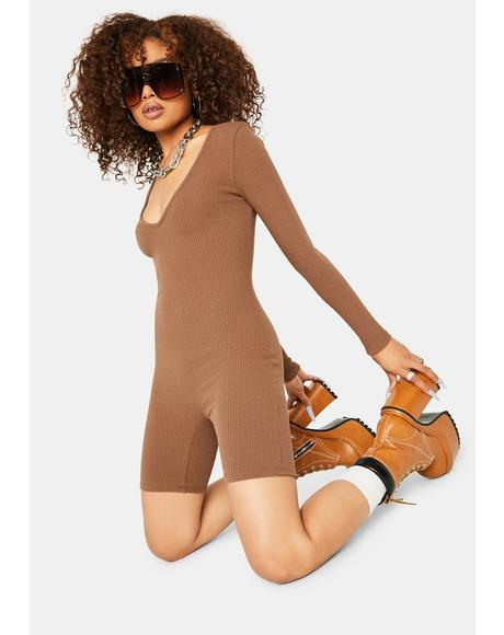 Cocoa Silent Love Long Sleeve Romper