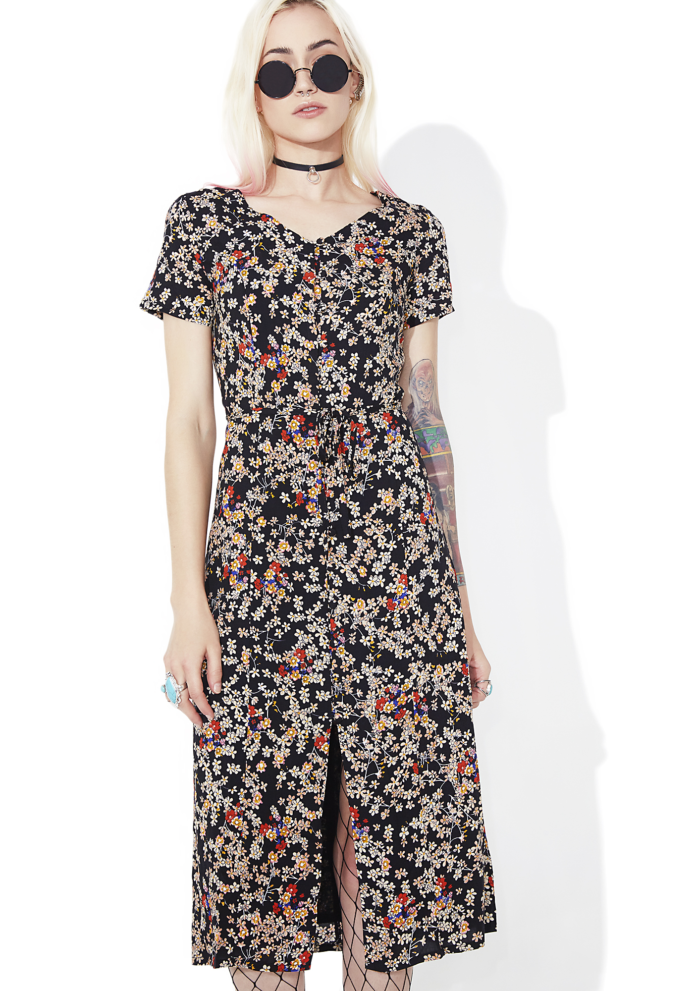 Glamorous Daisy May Buttoned Midi Dress