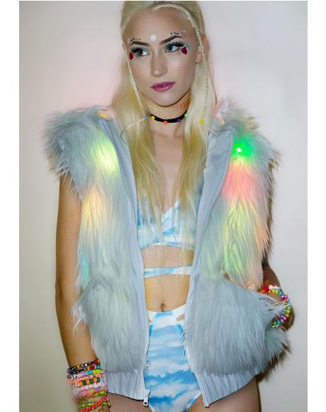 Flashing Lights Hooded Vest