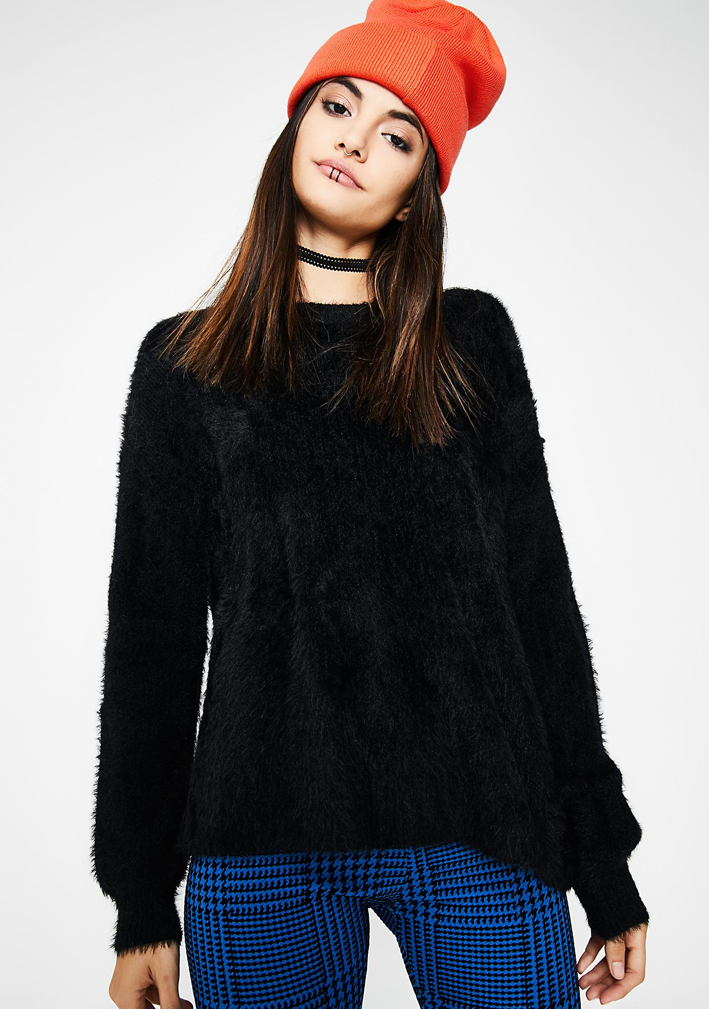 Get Fuzz'd Tie Back Sweater