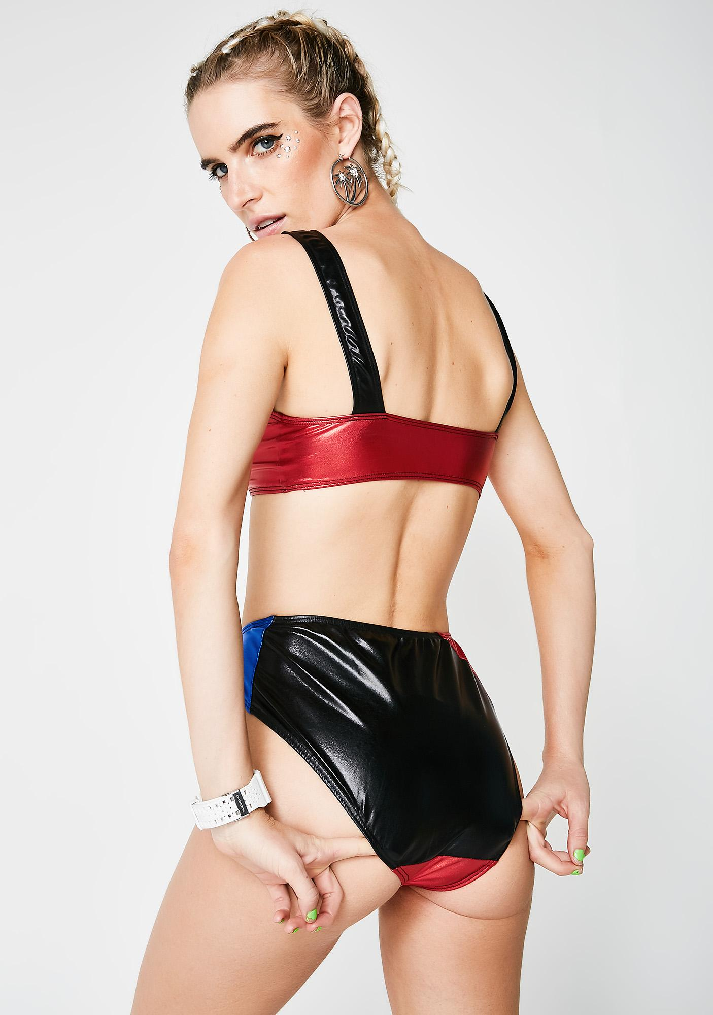 Jaded London Moto Panelled Bikini Bottom