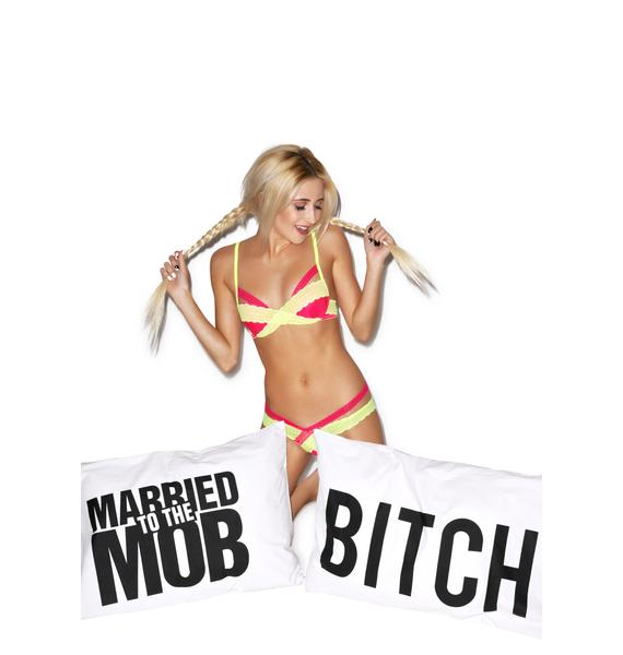 Married to the Mob Bitch Relax Pillow Cases