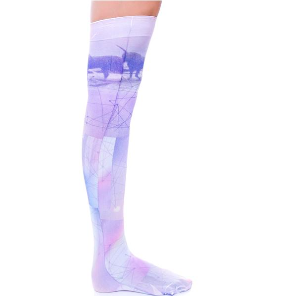 Private Arts Unicorn Thigh High Sox