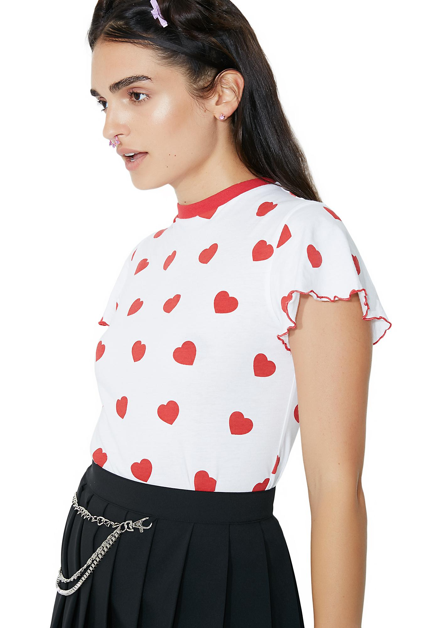Lazy Oaf Red Hearts Tee