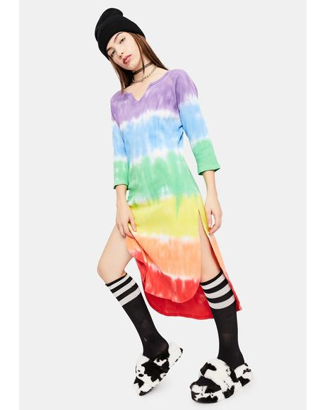 Jolly Happy Soul Tie Dye Midi Dress