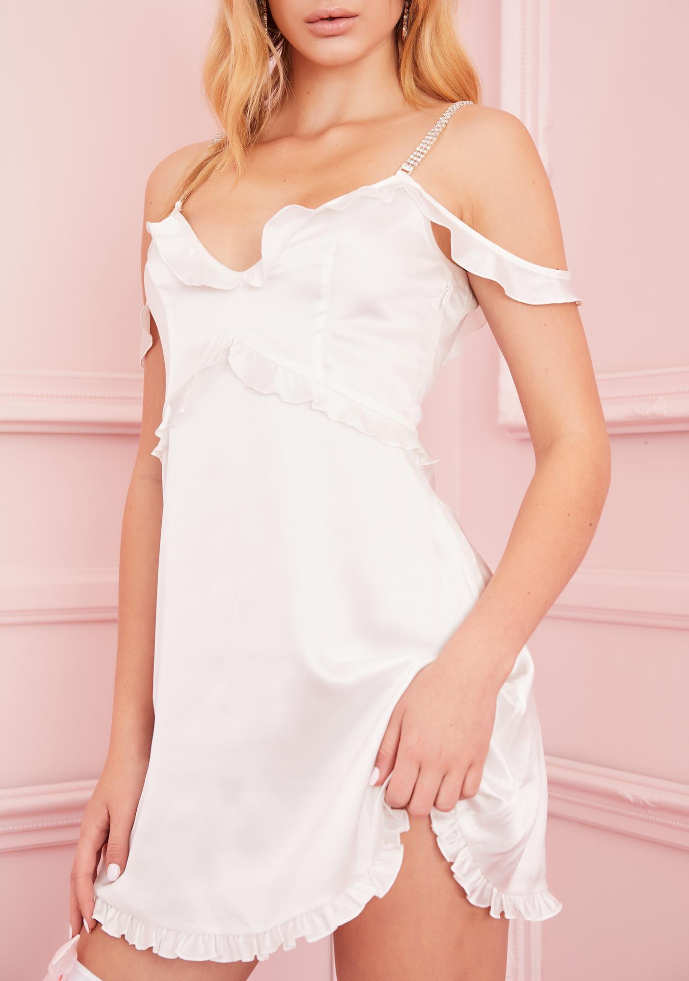 Sugar Thrillz Holy Alimony Satin Dress
