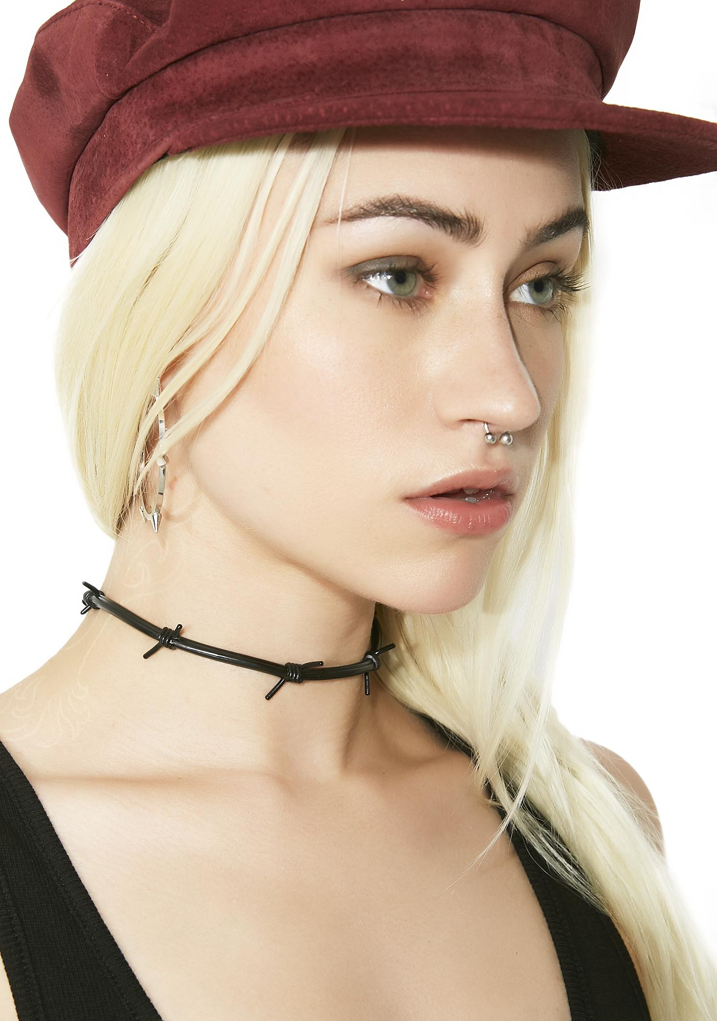 Bitchin' Barb Wire Choker