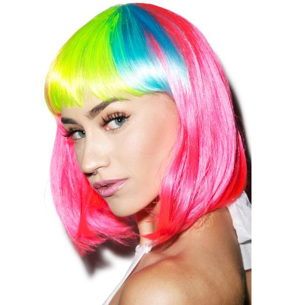 Rainbow Bangz Wig