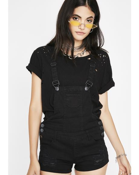 The Midnight Plug Denim Shortalls