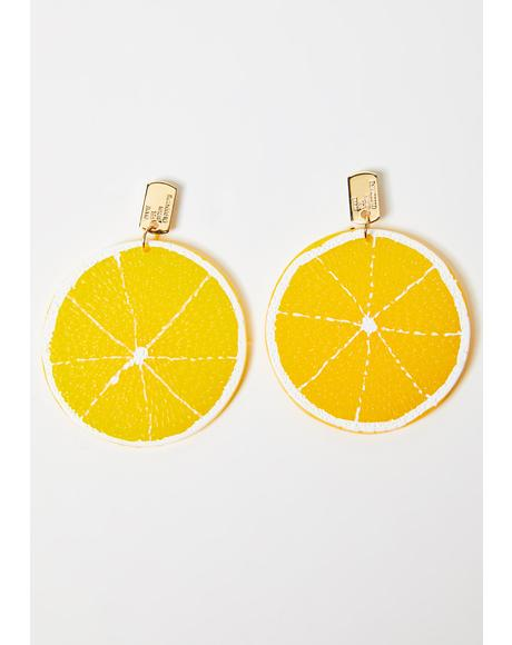 Life Gives Ya Lemon Earrings