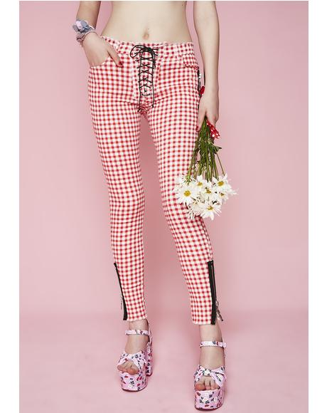 Not Ur Sweetheart Lace-Up Pants