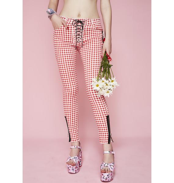Sugar Thrillz Not Ur Sweetheart Lace-Up Pants