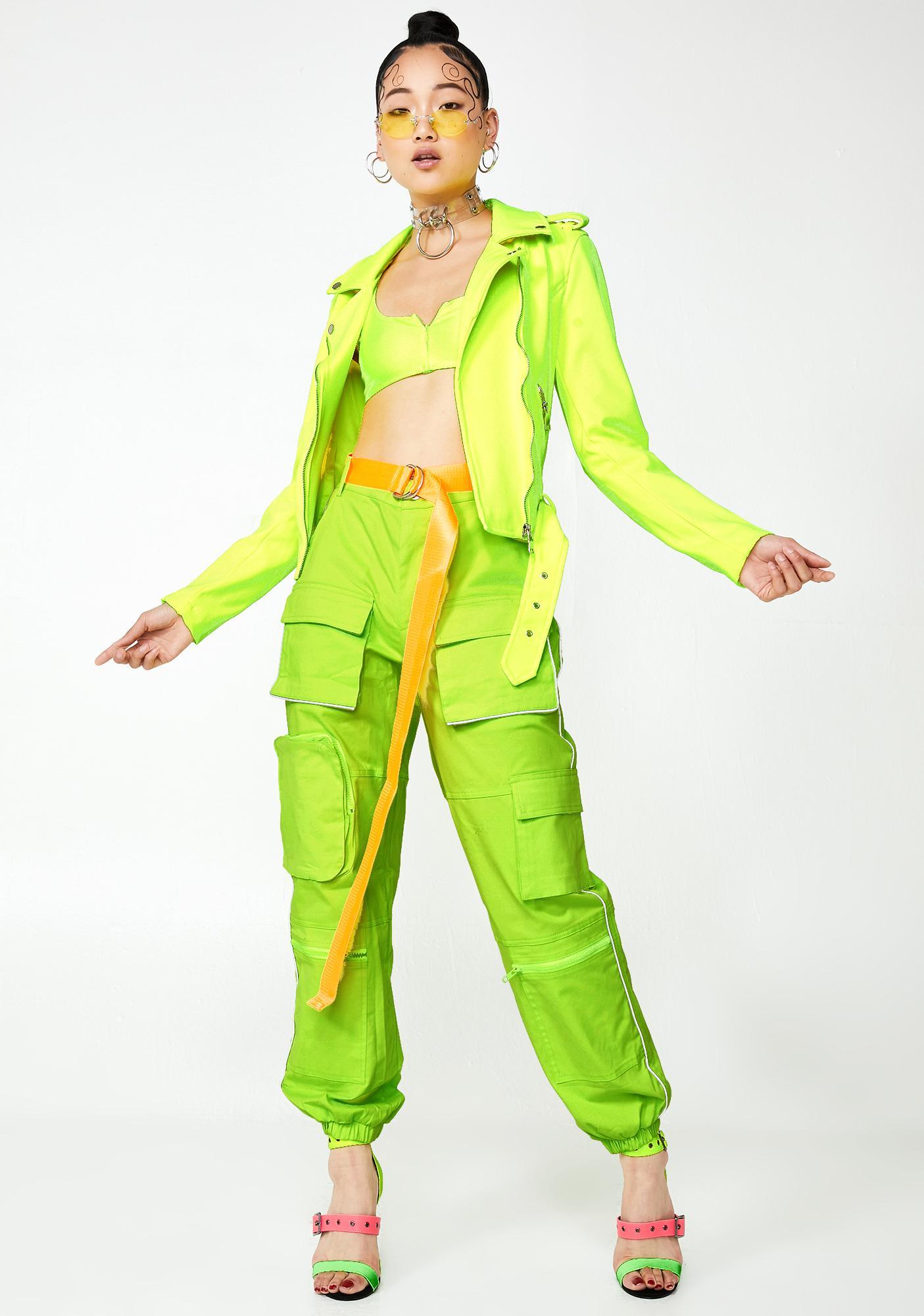 AZALEA WANG Acid Stevie Moto Jacket